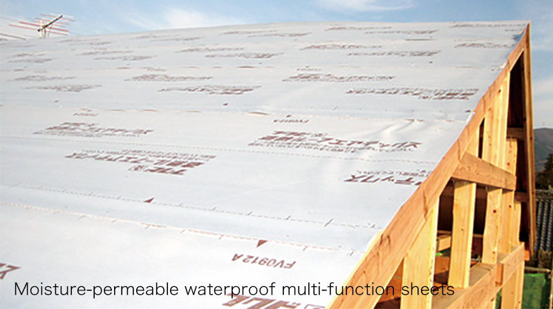Multi-function nonwoven sheets (moisture-permeable waterproof sheets, etc.)